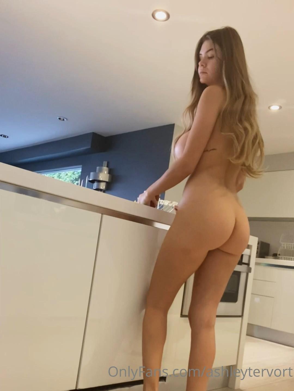 Ashley Tervort Naked Kitchen Onlyfans Video Leaked