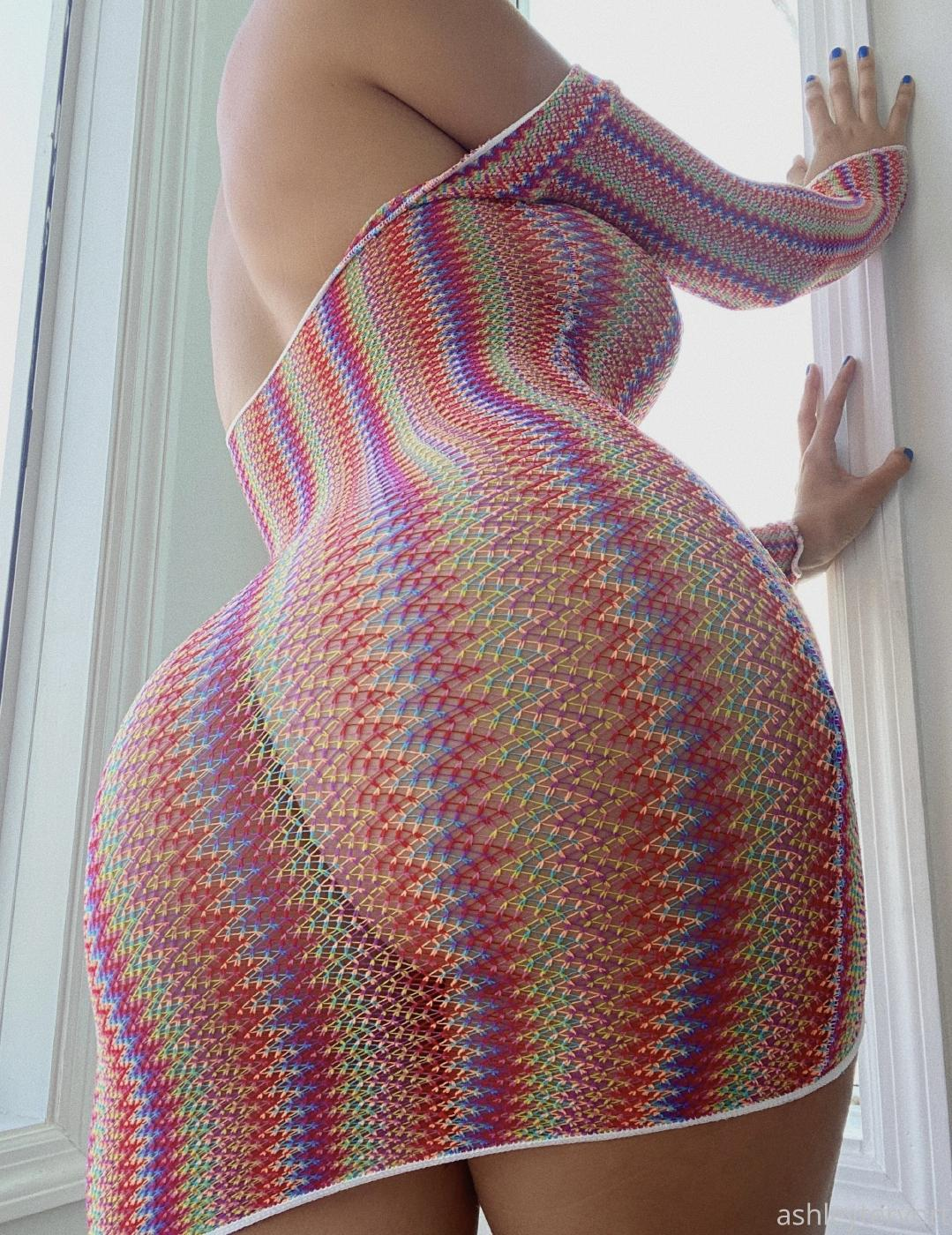 Ashley Tervort See Through Fishnet Dress Onlyfans Leaked 7