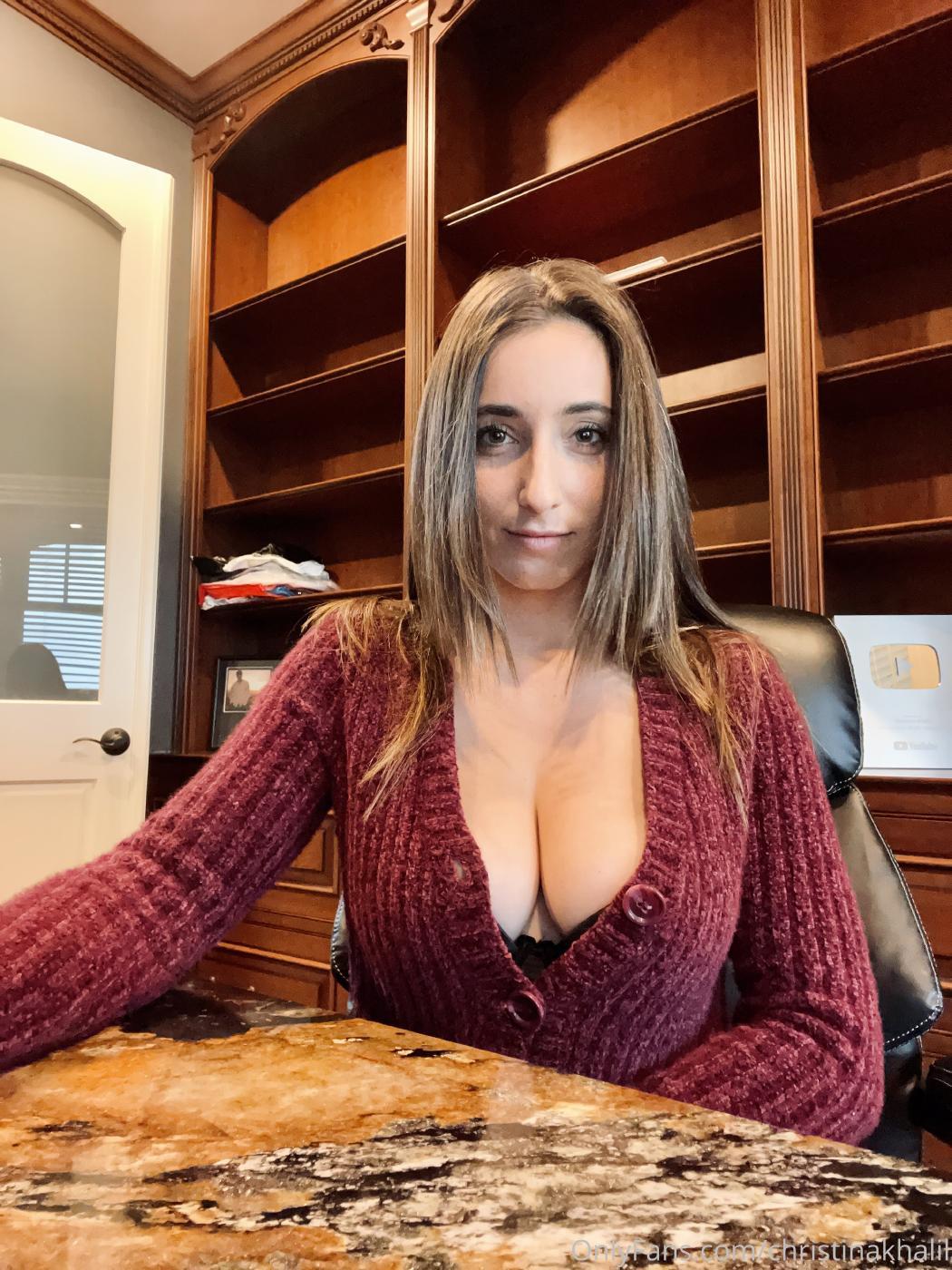 Christina Khalil Office Secretary Roleplay Onlyfans Leaked 7