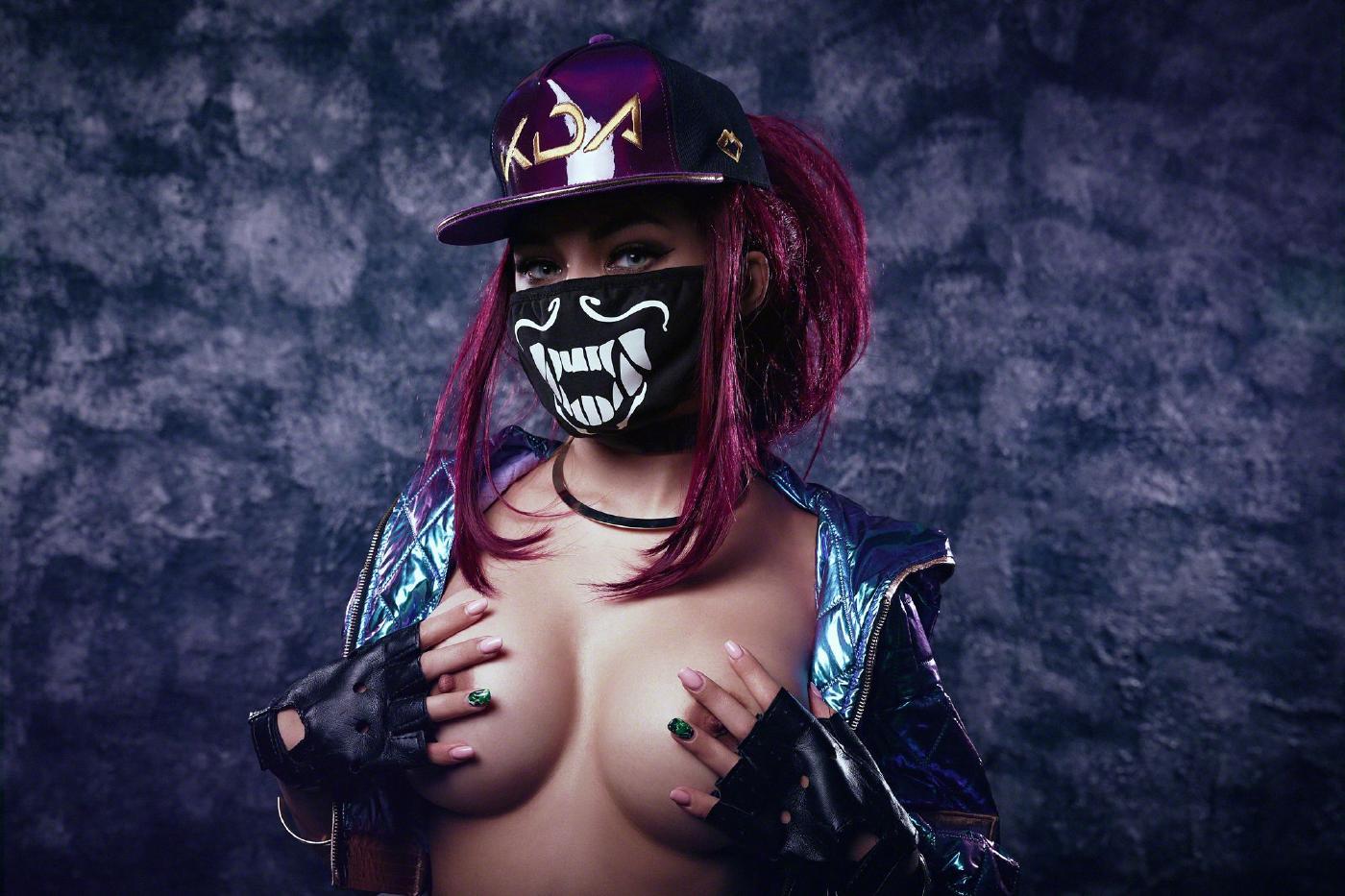 Kalinka Fox Nude Akali Cosplay Leaked 22