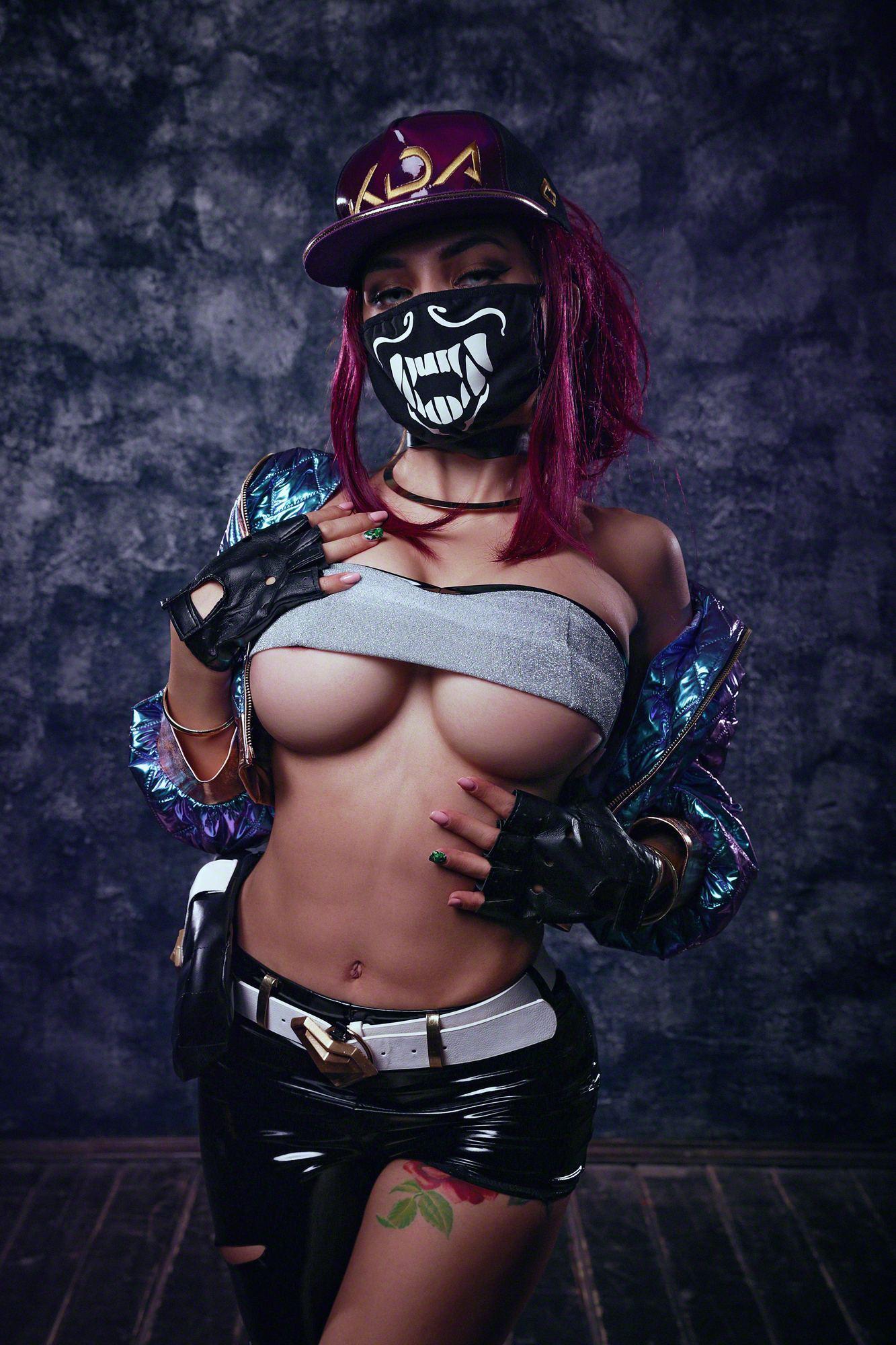 Kalinka Fox Nude Akali Cosplay Leaked 31