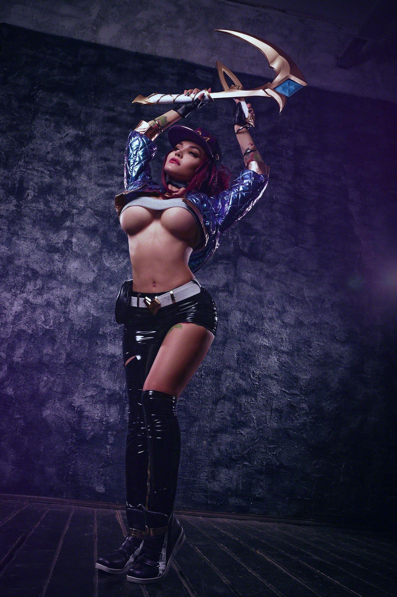 Kalinka Fox Nude Akali Cosplay Leaked 6