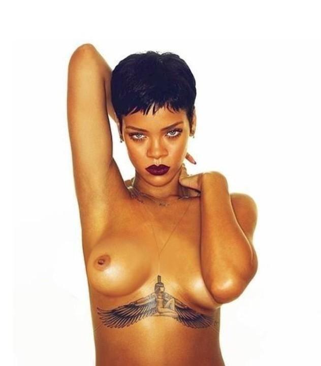 Rihanna Nude Topless Photoshoot Photos Leaked 9
