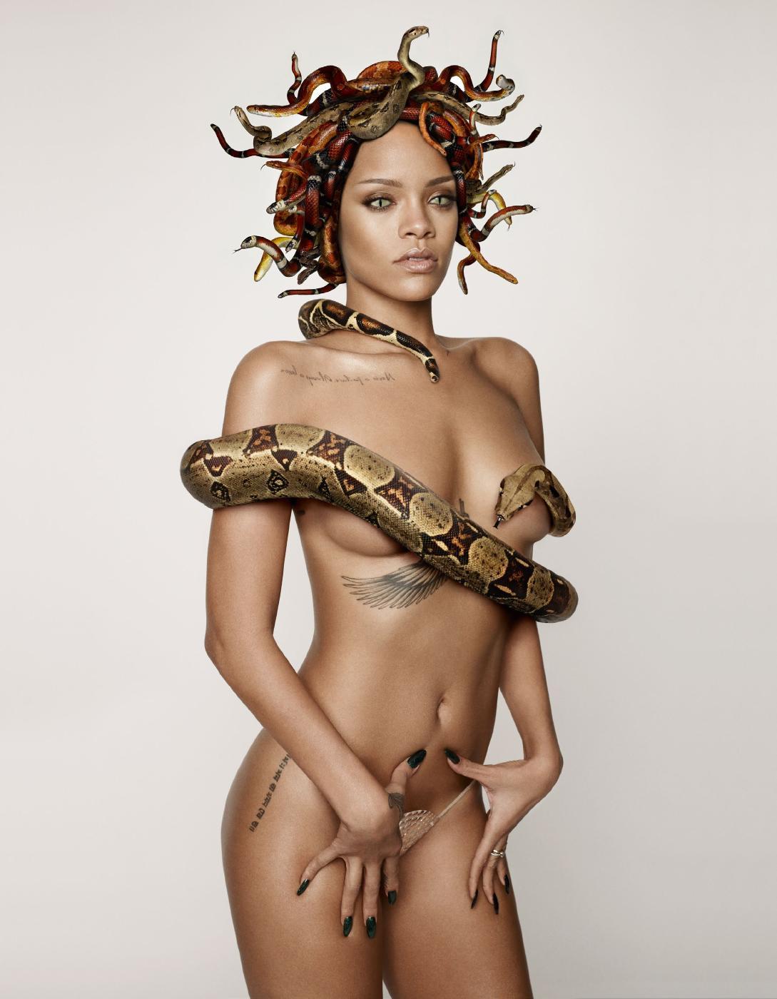Rihanna Snake Photoshoot Nude Photos Leaked